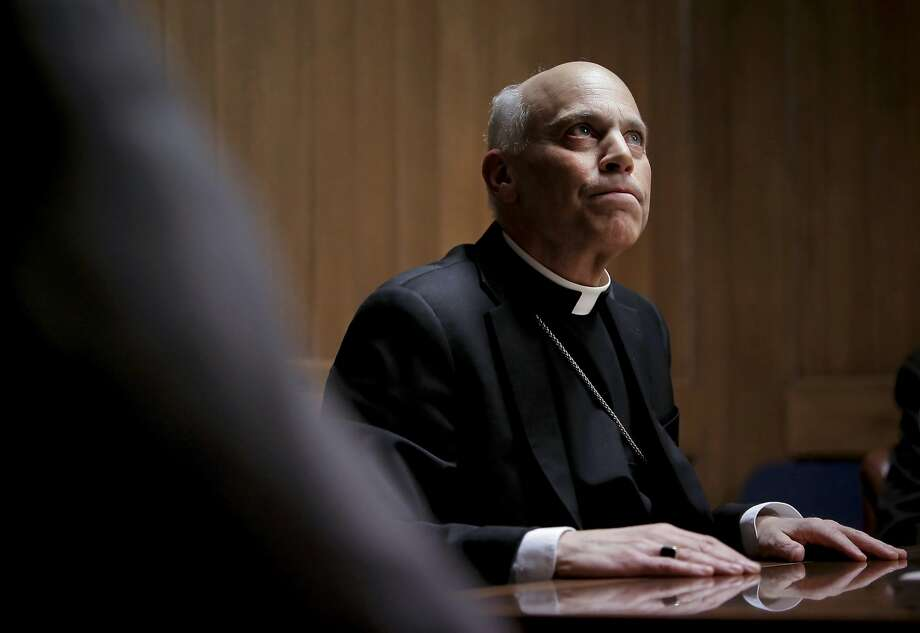 "San Francisco Archbishop Salvatore Cordileone ponders a question as he meets with the Chronicle's editorial board on Tues. February 24, 2015. Cordileone is a leading conservative ""culture warrior"" among the nation's Catholic Church leaders. Photo: Michael Macor, The Chronicle"