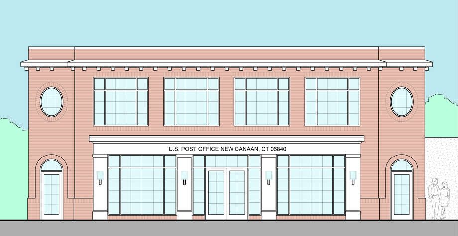 An architectural rendering of a new permanent post office for New Canaan proposed by Anthony Giordano, a principal of the ownership group of 121 Park Street, one of the two final locations the post office is eyeing for the facility Photo: Contributed Photo / Greenwich Time Contributed