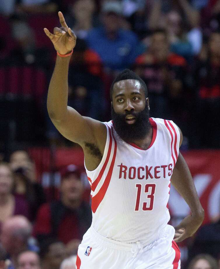 James Harden is fifth in the NBA with 388 3-point attempts, four back of Trevor Ariza. Photo: Cody Duty, Staff / © 2014 Houston Chronicle