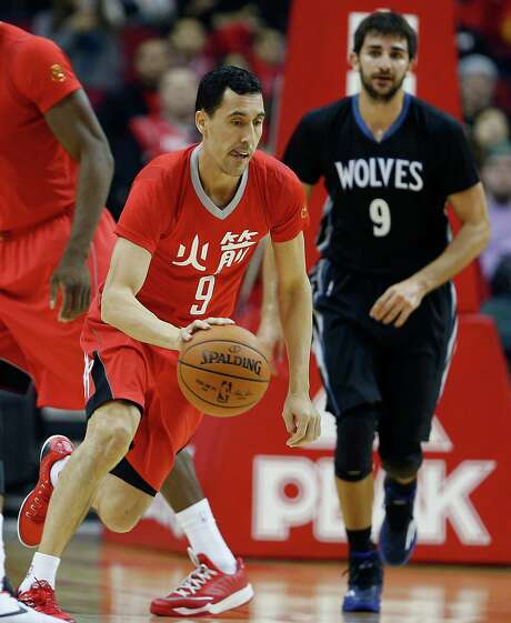Rockets newcomer Pablo Prigioni gave the team 19 minutes of playing time Monday when pressed into duty due to Pat Beverley's illness. Photo: James Nielsen, Staff / © 2015  Houston Chronicle