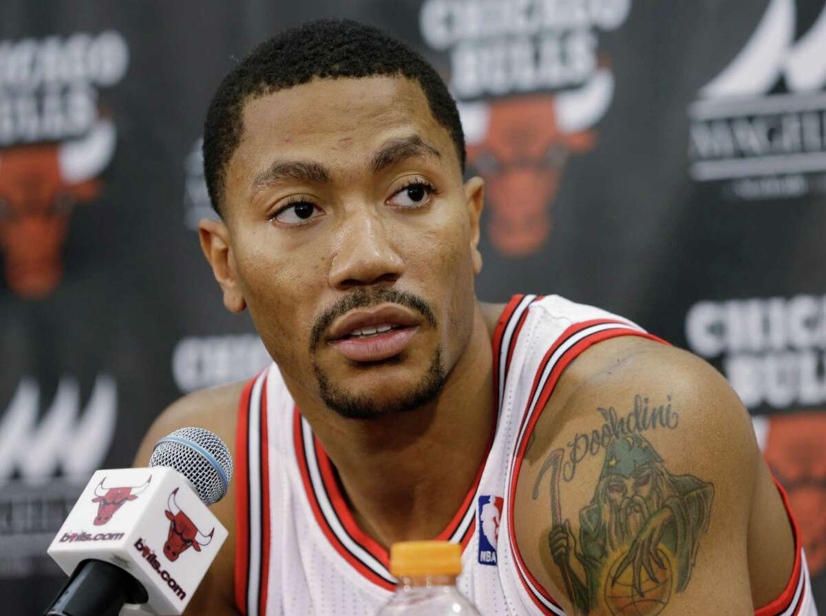 Derrick Rose After a one-and-done season at the University of Memphis, Rose returned to his native Chicago when the Bulls made him the first overall pick of the 2008 draft. Despite tendinitis in his right knee ending his run at the post-draft Orlando Pro Summer League, Rose managed to play in 81 of 82 regular-season games, earning him Rookie of the Year honors. His second season in the NBA started out with Rose nursing an ankle injury suffered in the Bulls' final preseason game, but he missed just four games total in 2009-10 and was named a reserve for the All-Star Game. Rose's third season in the NBA was a charming one - and his last at full health - as the Bulls bullied their way to a 62-20 record and the No. 1 seed in the East heading into the playoffs, helping Rose become the youngest MVP winner in league history. During the abbreviated 2011-12 season, Rose played in just 39 of 66 regular-season games before suffering the first of three devastating injuries, tearing the ACL in his left knee late in Game 1 of the Bulls' first-round playoff series. The injury cost Rose the entire 2012-13 season, but he returned for 10 games before having his 2013-14 campaign ended in November by a torn meniscus in his right knee. Rose returned without issue to play 46 games in the 2014-15 campaign but a medial meniscus tear - again in his right knee - ended his season. He will be 27 to start the 2015-16 season.