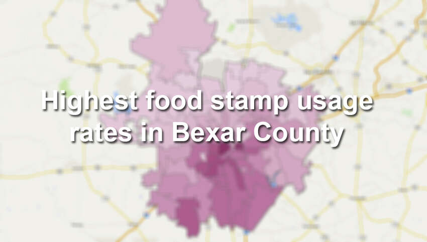 Roughly 15 percent of Bexar County households receive assistance through the federal Supplemental Nutrition Assistance Program, commonly known as food stamps, according to the U.S. Census Bureau. Scroll through to see which ZIP codes have a usage rate higher than 20 percent.