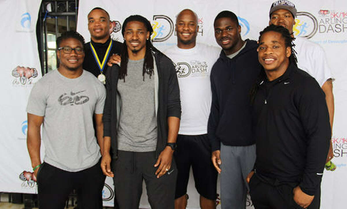 Former and current NFL players celebrated the life of Devaughn Darling at the 2015 Darling Dash hosted by As One Foundation on Sunday, Feb. 22. Players included: Devard Darling, NFL Retired-As One Foundation Founder; Victor Aiyewa, former San Diego Chargers; Randy Hymes, retired Baltimore Ravens; Jacquizz Rodgers, Atlanta Falcons; James Rodgers, former Atlanta Falcons; Tramon Williams, Greenbay Packers; and Milton Wynn, former Saint Louis Rams.
