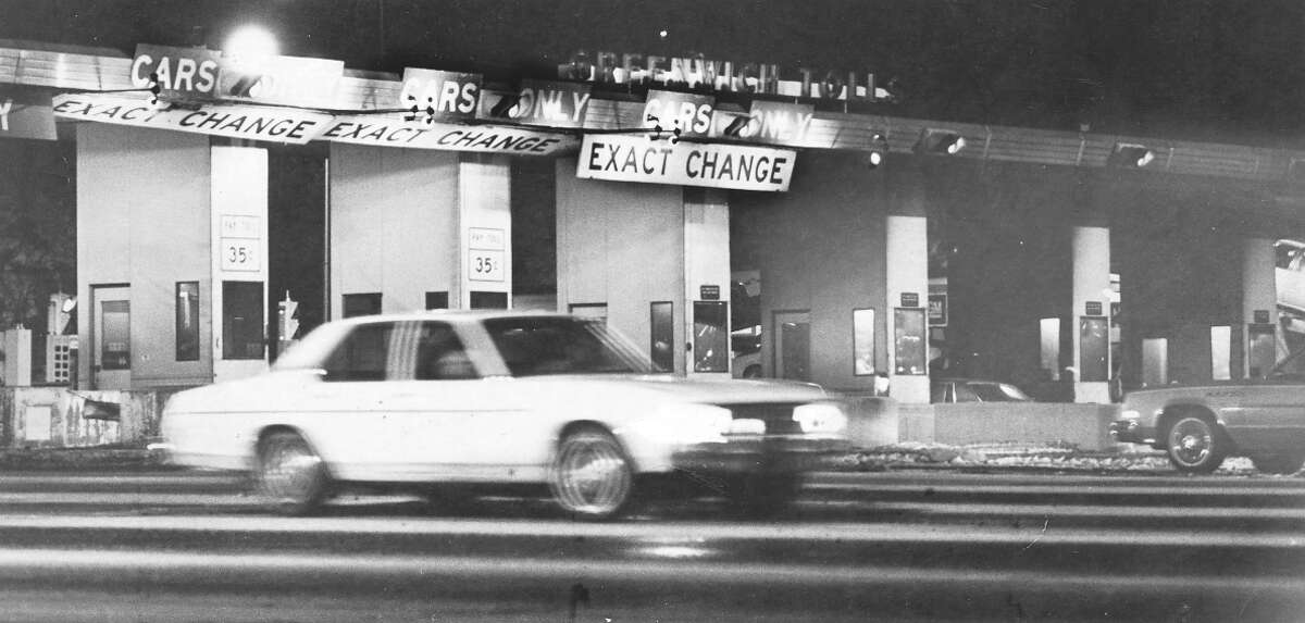 Jan. 28. 1982 File photo by Millie Rose Madrick - I95 Greenwich Toll Booth at 6pm.