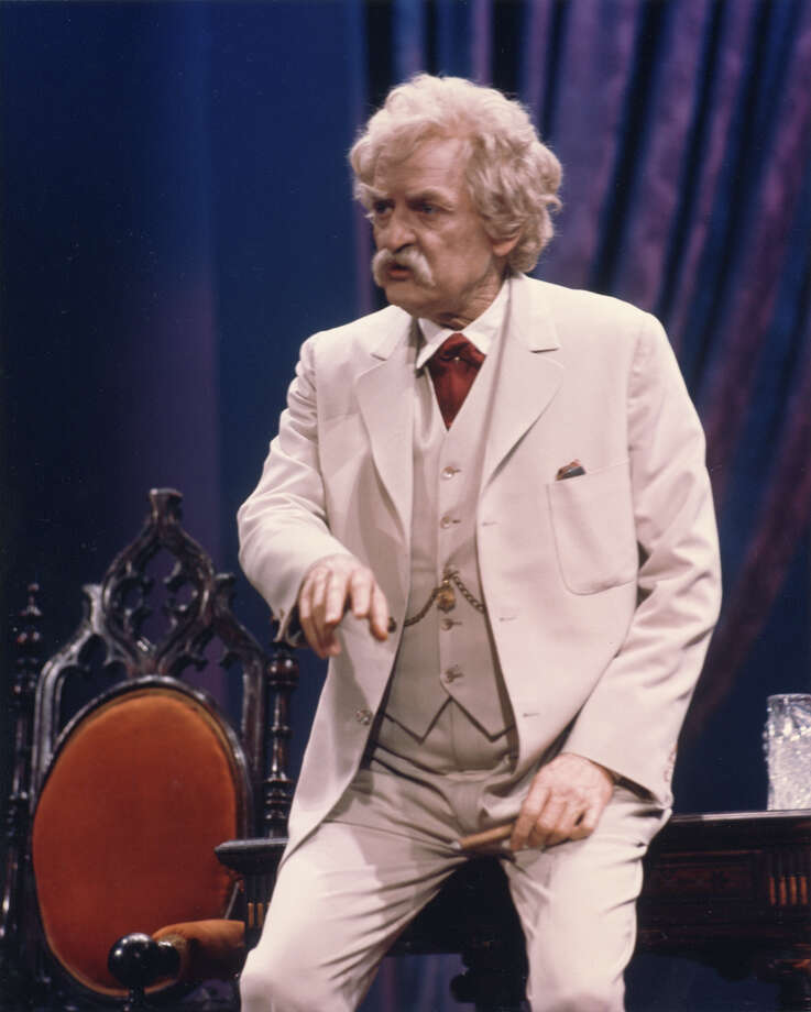 "Hal Holbrook stars in ""Mark Twain Tonight!"" at the Grand 1894 Opera House in Galveston."