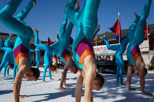 """Danish danceSunday, March 1The National Danish Performance Team - 28 skilled gymnasts ages 19-28 - will perform """"Orbita"""" at Discovery Green. The high-energy, admission-free show includes rhythmic gymnastics, tumbling, vaulting and dance.When: noon-1:30 p.m. Where: 1500 McKinneyTickets: FREEInformation: discoverygreen.com/ndpt Photo: Courtesy Photo"""