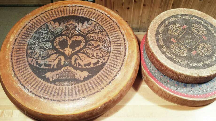 A 200 lb. wheel of Emmentaler cheese. Photo: Contributed Photo / Greenwich Time Contributed