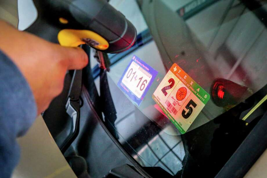 A new system for annual vehicle registration and inspections takes effect Sunday. Under a law passed in 2013, motorists will be required to have just the registration  sticker, not a separate inspection sticker, affixed to their windshield, although annual safety inspections are still required. Here are some frequently asked questions and answers.Johnny Pudildo of Kwik Kar Lube and Tune at 2710 Washington, Ave. scans an inspection sticker during a car inspection Tuesday, February 24, 2015, in Houston. Photo: Billy Smith II, Billy Smitth II / Houston Chronicle