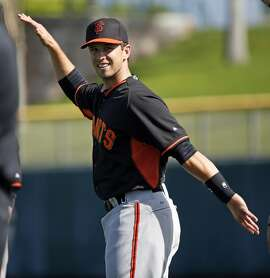 San Francisco Giants' Buster Posey during Spring Training in Scottsdale, Arizona, on Tuesday, February 24, 2015.