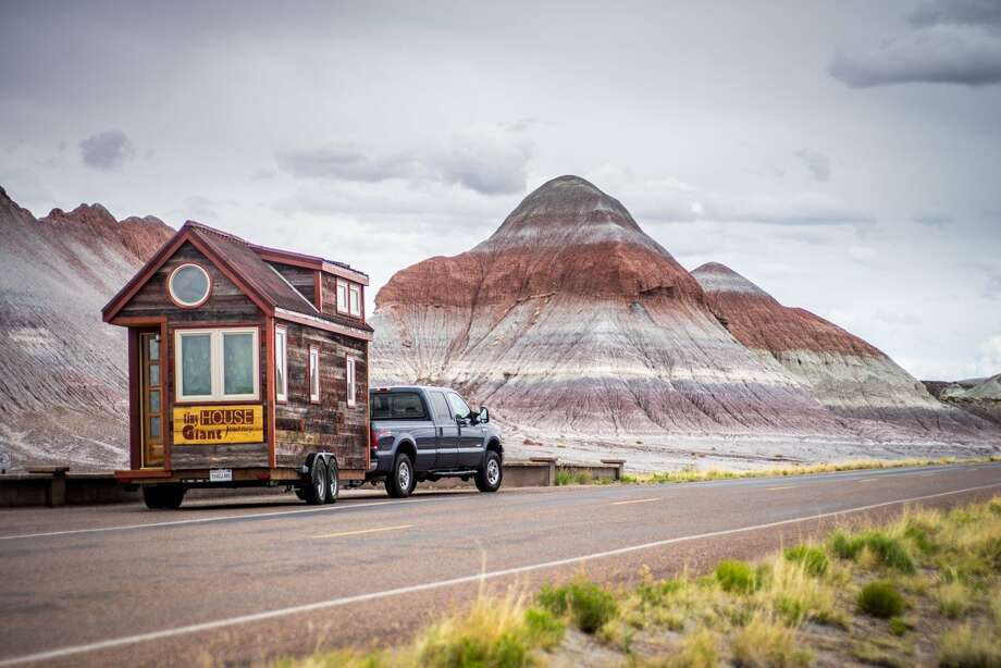 "Petrified Forest National Park, ArizonaThey've towed their 125-square-foot home from California to New York, through eastern Canada, and from Maine to Florida, documenting the journey on their blog, ""Tiny House Giant Journey."" Photo: (via Business Insider)"