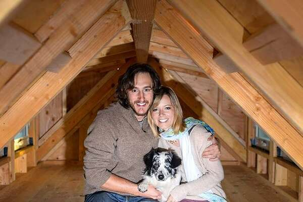 Meet Guillaume Dutilh and Jenna Spesard. For the past five months, the two have lived in a mobile tiny house of their own making and traveled through 25 states  Read more: http://www.businessinsider.com/tiny-house-great-journey-2015-2?op=1#ixzz3Smb83sr7
