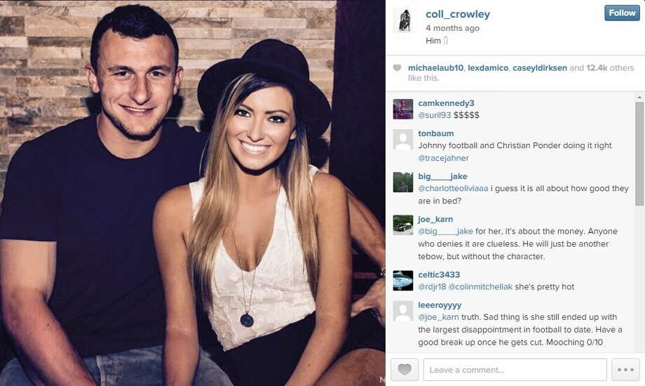 Meet Johnny Manziel's girlfriend: Colleen Crowley is a Texas Christian University student frequently seen with the Cleveland Browns quarterback in photos posted to each other's Instagram feeds. Photo: Screenshot Via Instagram