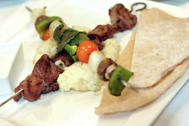 Souvlaki at the Casola Dining Room on Wednesday, Feb. 18, 2015, at Schenectady County Community College in Schenectady, N.Y. (Cindy Schultz / Times Union) Photo: Cindy Schultz / 00030647A