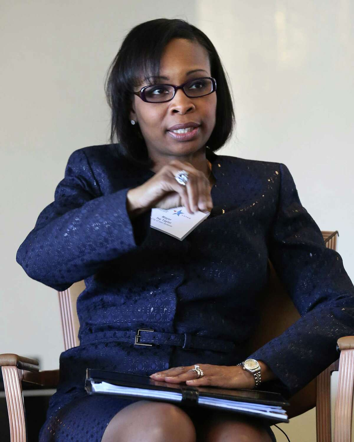 Mayor Ivy Taylor said her top priority is maintaining the city's current transportation infrastructure.