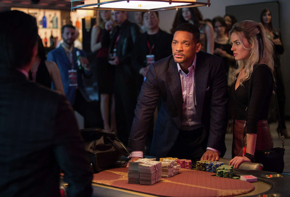 Will Smith plays a big-time swindler, with Margot Robbie as his latest apprentice, in