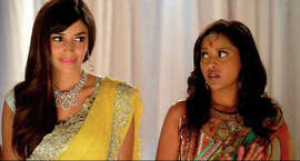 "Hannah Simone (left) and Tiya Sircar in ""Miss India America,"" one of the 26 films making its world premiere at Cinequest 25."