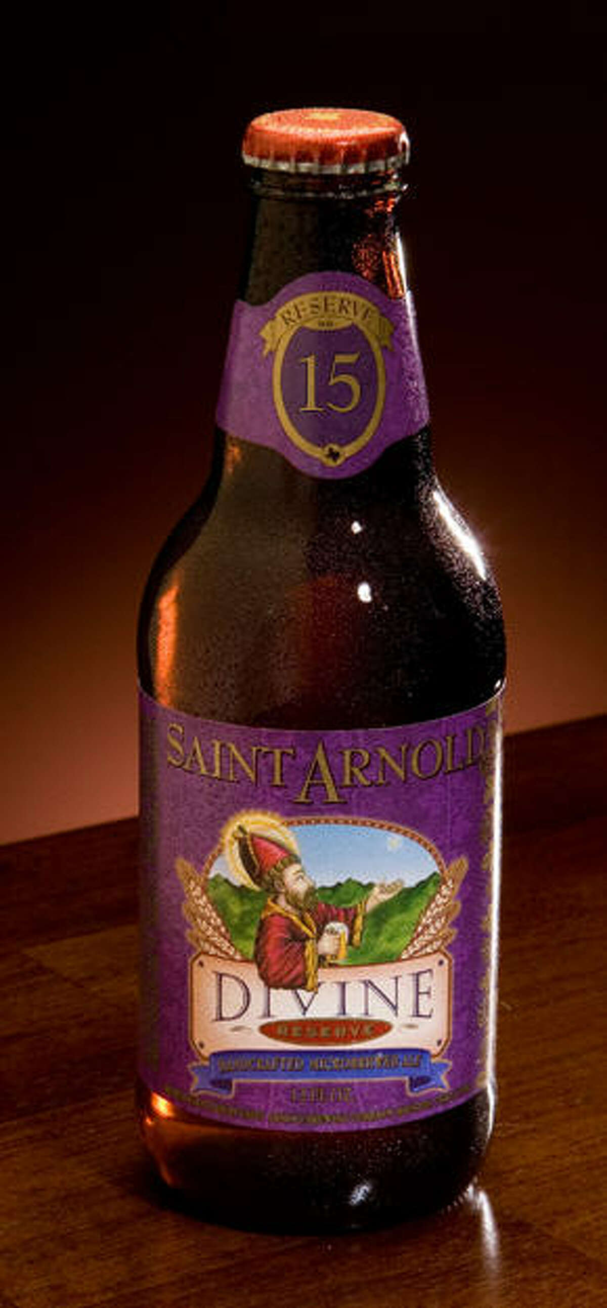 Saint Arnold Divine Reserve Series Brewing Company: Saint Arnold Brewing Company, Houston Beer Type: various Alcohol by Volume: varies Source: Saint Arnold Brewing Company
