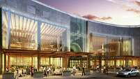Rendering of the planned upgrade to the exterior of the  Houston Galleria.  The mall owner Simon is investing $250 million to overhaul the property.