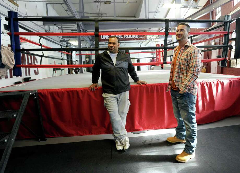 Fernely Felix, left, a former heavyweight box, and A.J. Galante have opened a new boxing gym  at 128 East Liberty Street in Danbury, Conn. Monday, February 23, 2015. Photo: Carol Kaliff / The News-Times