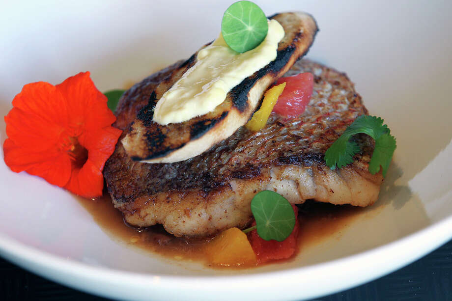 Red snapper at Sustenio in the Hotel Eilan. Photo: Tom Reel /San Antonio Express-News