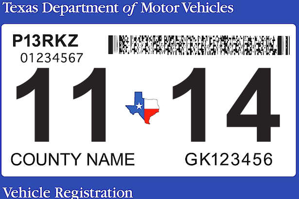 The Texas Department of Motor Vehicles will release a new registration sticker.