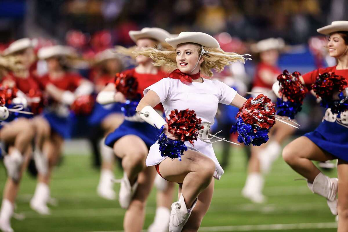 Kilgore Rangerettes during pre-game activities before the game against the Baylor Bears and Michigan State Spartans at the Goodyear Cotton Bowl Classic at AT&T Stadium on January 1, 2015 in Arlington, Texas.