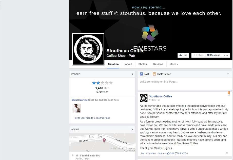Stouthaus Coffee's Facebook page was flooded with negative comments. Photo: Facebook, Screengrab