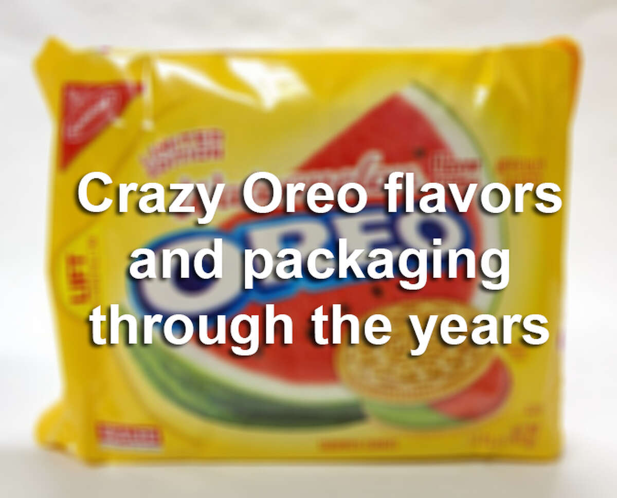 Here's a look at some of the weird and delicious flavors that Oreo has stuck between two cookies over the years.