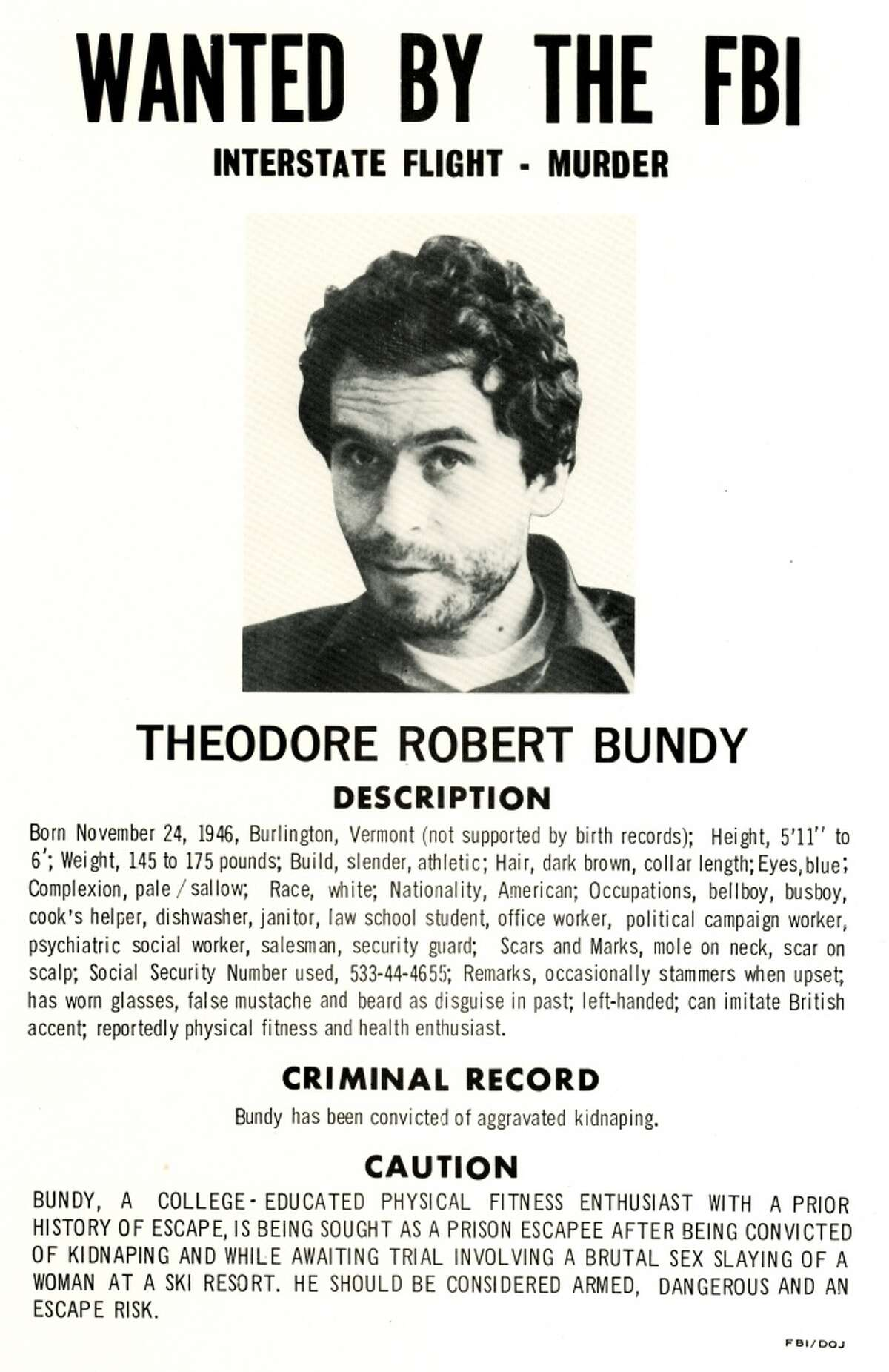 Ted Bundy, class of '72, may already have begun murdering young women while he attended psychology classes at UW. After his final capture in 1978, he later admitted to 30 killings, though inconsistent accounts by him in interviews suggest he may have killed many more. He was executed in 1989.