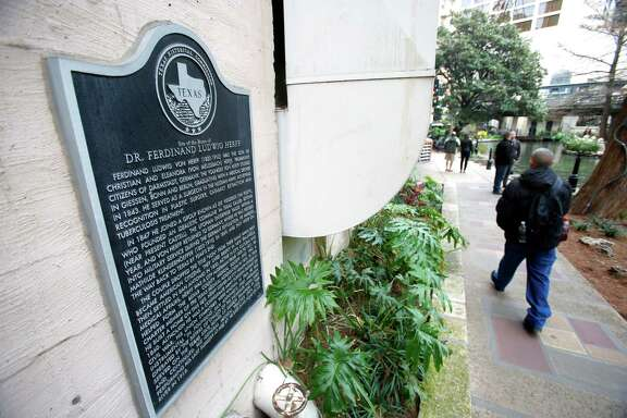 Dr. Ferdinand Ludwig Herff was a pioneer physician, surgeon and civic leader in San Antonio. A Texas Historical Commission plaque has been on the Nix Professional Building on the River Walk for some time marking the site as the home of Dr. Herff.