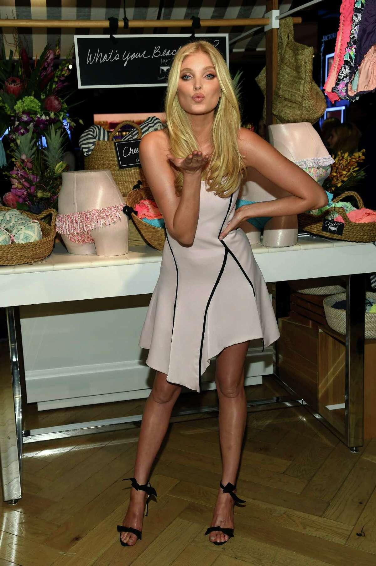 Victoria's Secret Angel Elsa Hosk celebrates the sexiest Push-ups and The Victoria's Secret Swim Special at Victoria's Secret Herald Square on February 25, 2015 in New York City.