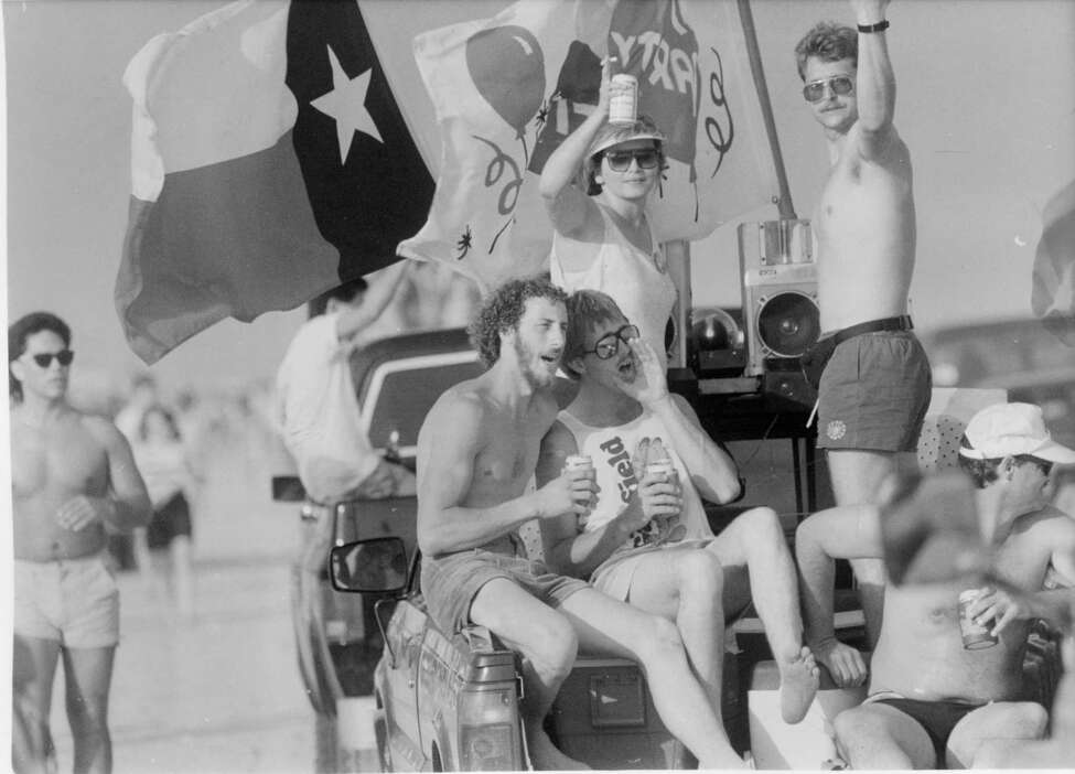 Big Texas-style cruising on Port Aransas, Spring Break 1989