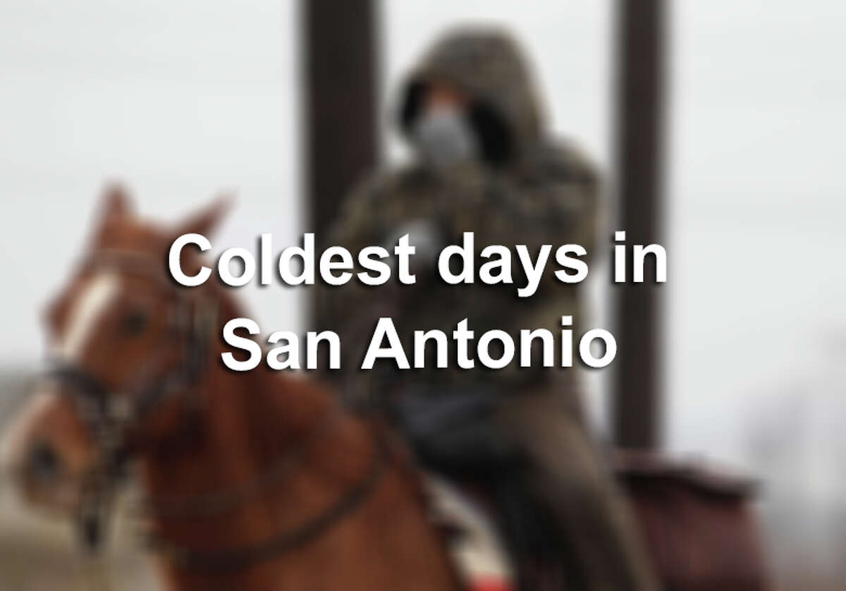 Freezing days in San Antonio don't happen too often, and snow is even more rare. But there are a handful of days in history that prove San Antonians can withstand those single-digit temperatures. Click through the gallery to see the coldest days on record in the Alamo City...