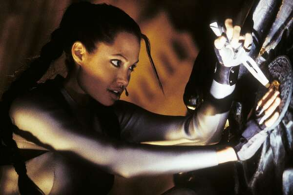 "Actress Angelina Jolie, star of the new action film ""Lara Croft Tomb Raider The Cradle of Life"" is shown in a scene from the film in this undated publicity photograph."