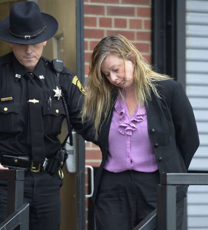 Traci Briskin leaves Saratoga County Courthouse following her sentencing Monday afternoon Dec. 2, 2013 in Ballston Spa, N.Y.         (Skip Dickstein/Times Union archive) Photo: SKIP DICKSTEIN / 00024828A