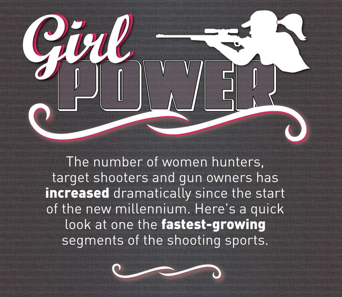 In the past decade, the number of women owning firearms and participating in target shooting and hunting has soared, according to a 2014 study by the National Shooting Sports Foundation.