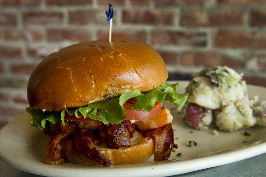 A shrimp BLT is shown at Paulie's Monday, April 8, 2013, in Houston. ( Brett Coomer / Houston Chronicle ) Photo: Houston Chronicle