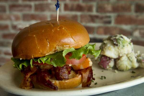 A shrimp BLT is shown at Paulie's Monday, April 8, 2013, in Houston. ( Brett Coomer / Houston Chronicle )