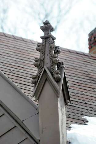 Pinnacles on the John L. Schoolcraft house at 2299 Western Turnpike in Guilderland is a sign of high Gothic style. (Cindy Schultz / Times Union) Photo: Cindy Schultz / 00030728A