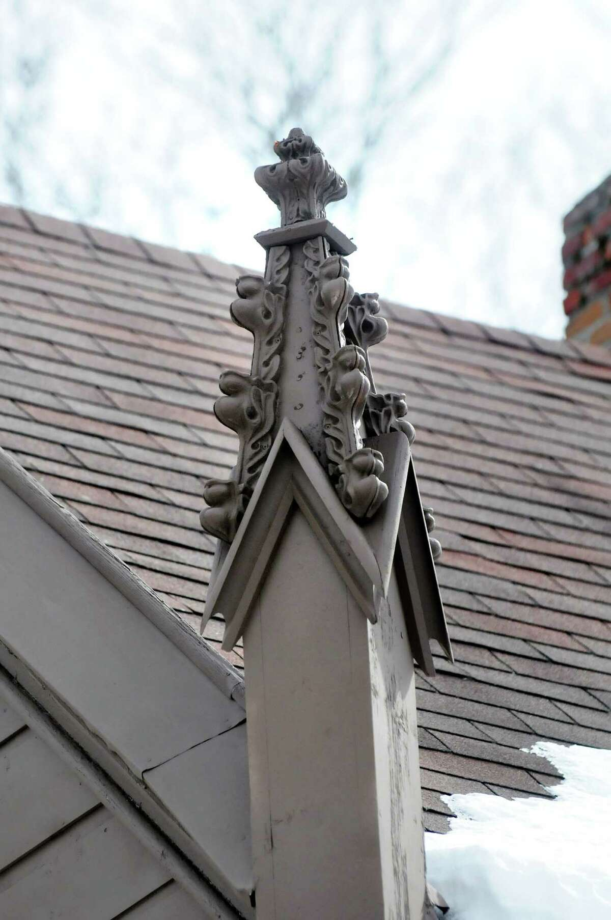 Pinnacles on the John L. Schoolcraft house at 2299 Western Turnpike in Guilderland is a sign of high Gothic style. (Cindy Schultz / Times Union)