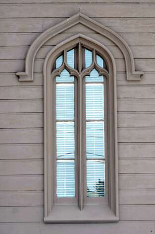 Both the lintel and the pointed arch on the window are Gothic features on the John L. Schoolcraft house at 2299 Western Turnpike in Guilderland. (Cindy Schultz / Times Union) Photo: Cindy Schultz / 00030728A