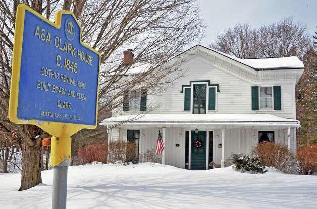 Asa Clark House, ca. 1845 at 394 Vischer Ferry Road Tuesday Feb. 24, 2015 in Clifton Park, NY.  (John Carl D'Annibale / Times Union) Photo: John Carl D'Annibale / 00030728B