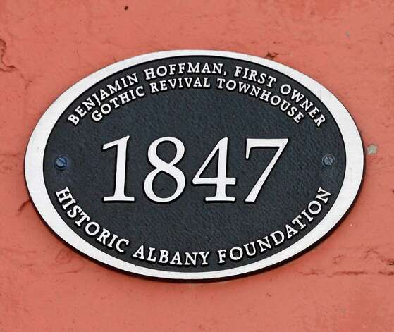 Historic marker at front entrance to house at 10 Madison Place Wednesday Feb. 25, 2015 in Albany, NY.  (John Carl D'Annibale / Times Union) Photo: John Carl D'Annibale / 00030728D