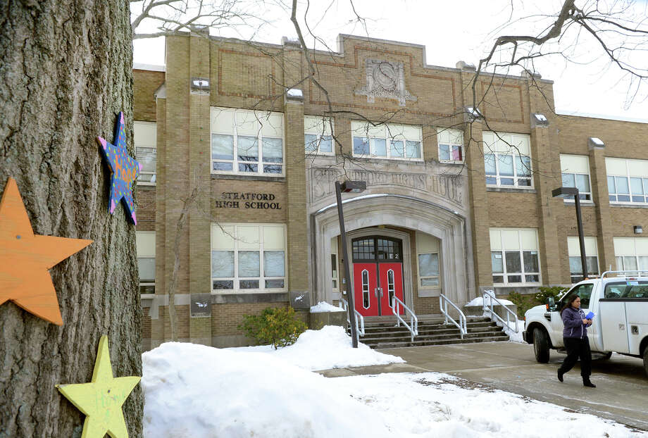 An exterior view of Stratford High School in Stratford, Conn., on Thursday Feb. 26, 2015. Photo: Christian Abraham / Connecticut Post