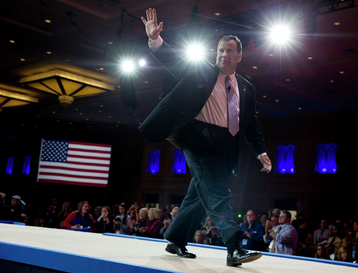 New Jersey Gov. Chris Christie at the Conservative Political Action Conference.