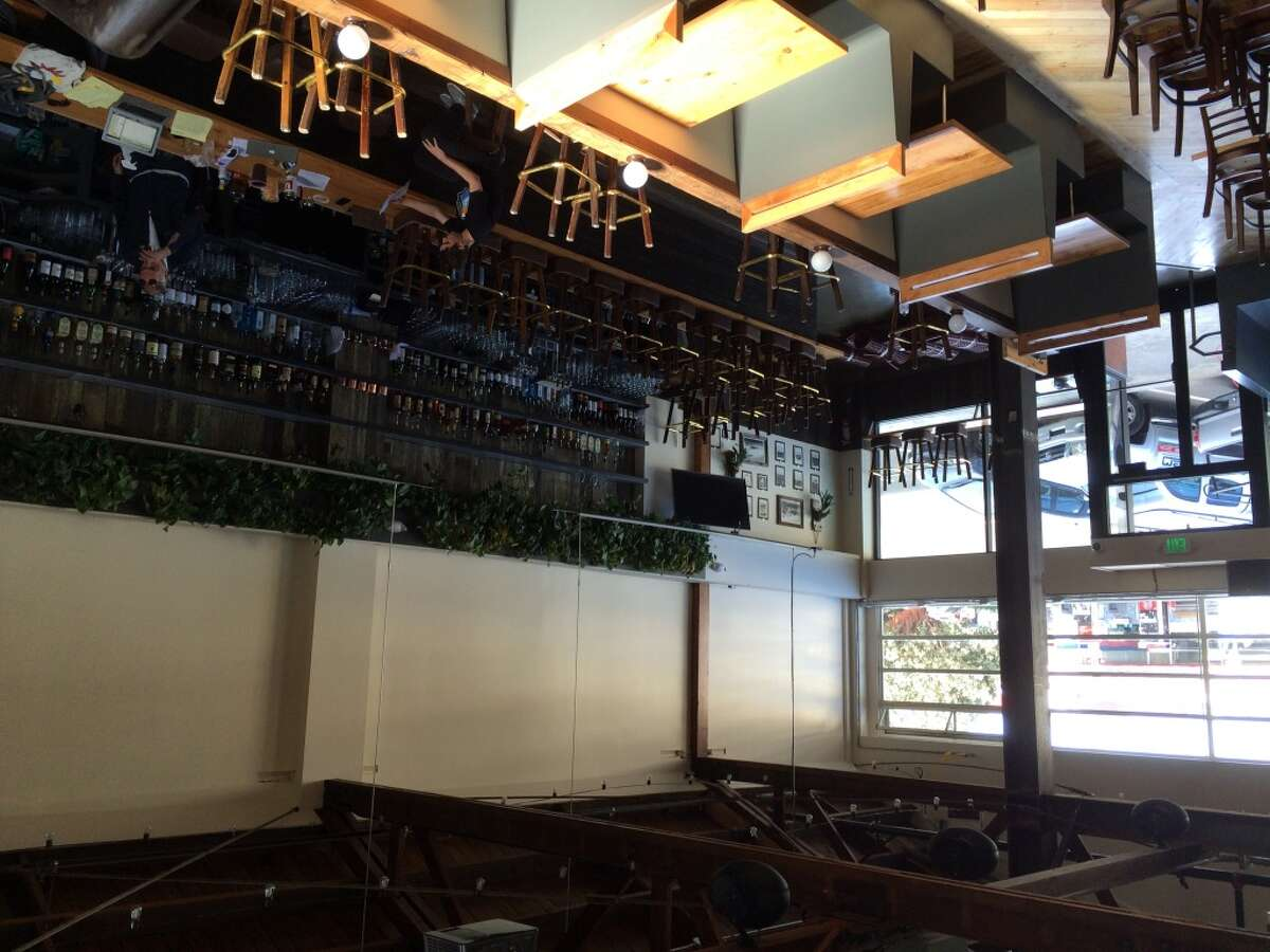 View from the second floor dining area of Sunset Reservoir Brewing Company.