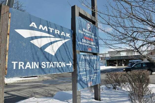A view of the Amtrak station on Wednesday, Feb. 25, 2015, in Schenectady, N.Y.     (Paul Buckowski / Times Union) Photo: PAUL BUCKOWSKI / 00030762A