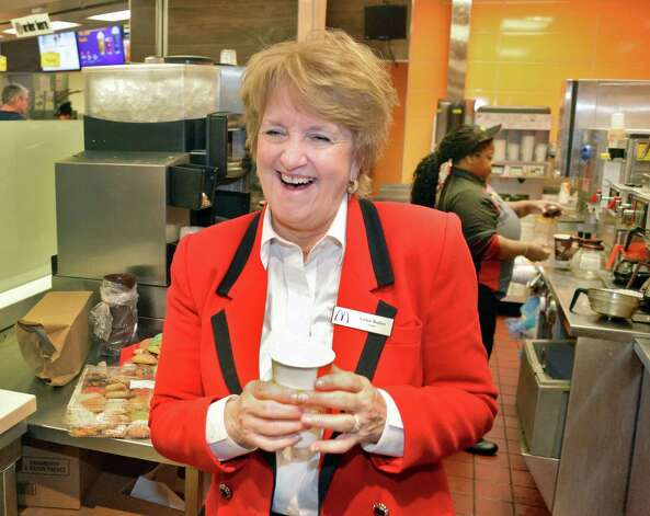 McDonald's Owner/Operator Kathie Reeher during grand re-opening ceremonies of the McDonald's in the Empire State Plaza Celebrates Thursday Feb. 26, 2015, in Albany, NY.  (John Carl D'Annibale / Times Union) Photo: John Carl D'Annibale / 00030726A