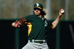 Zito getting his pitches back in shape with A's - Photo