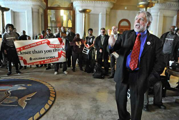 Charles King, President and CEO of Housing Works, speaks during an AIDS rally at the Capitol on Thursday, Feb. 26, 2015 in Albany, N.Y.  (Lori Van Buren / Times Union) Photo: Lori Van Buren / 00030776A
